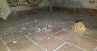 Contrôle après désamiantage dans une maison abandonnée